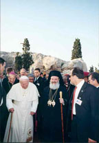 Papstbesuch Athen 2001